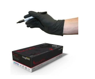 Black Latex Gloves (100)